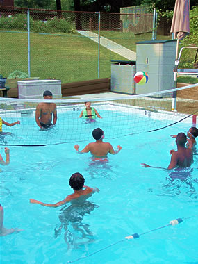 Water fun at Astor Residential Treatment program swimming pool