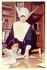 Sister teaching girl c. 1962