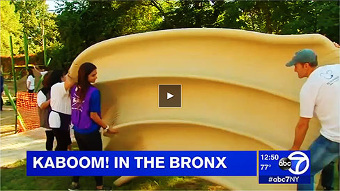 VIDEO: ABC TV coverage of Bronx KaBoom! playground building